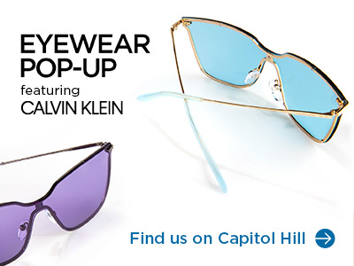 Eyewear Pop-Up featuring Nike Vision, Find us on Capitol Hill.